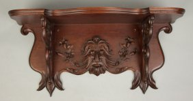 Carved Victorian Walnut Shelf