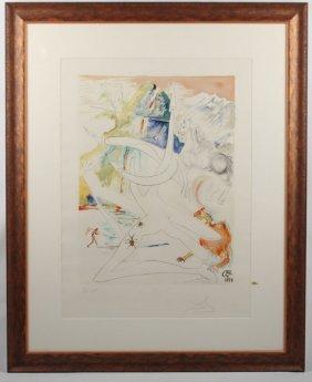 Salvador Dali Laser Unicorn Signed Engraving
