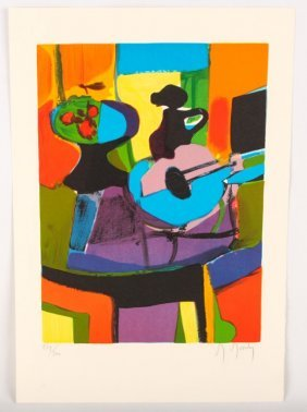 Marcel Mouly Composition Limited Ed Signed Print