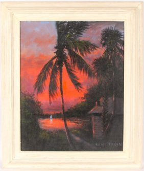R.a. Mclendon Florida Highwaymen Sunset Palms