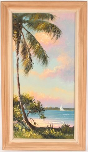 Harold Newton Florida Highwaymen Sailboat On Water