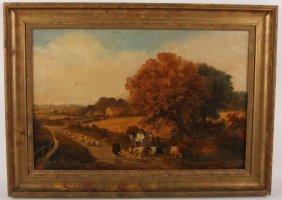 Gustave De Breanski Oil On Canvas Landscape