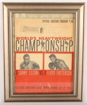 Cassius Clay Signed 1963 Souvenir Program Las Vegas
