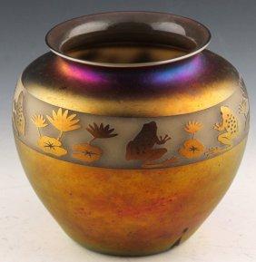 Zellique Studios Iridescent Art Glass Vase