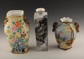 3 Pieces Of Handpainted Nippon Porcelain