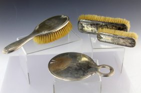 4 Pc Sterling Silver Dresser Set
