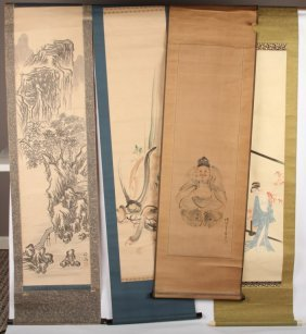 4 Chinese Scrolls