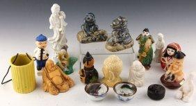 19 Chinese Assorted Figurines | Buddha, Geisha