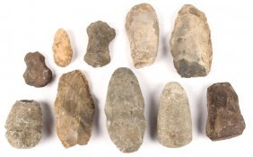 10 Native American Stone Tool Celts