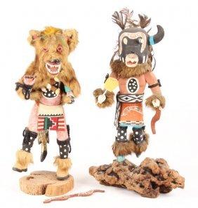 2 Native American Kachina Dolls