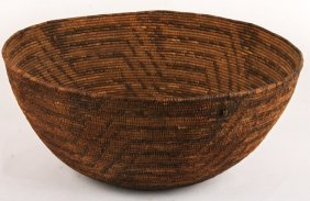Early 20th C Western Apache Large Basket