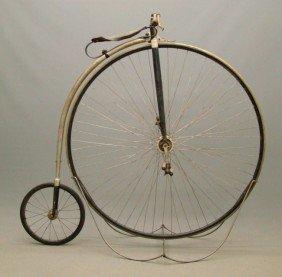 "C. 1880's 51"" Rudge Highwheel Bicycle"
