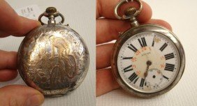 19th C. Pocket Watch  With Safety Rider