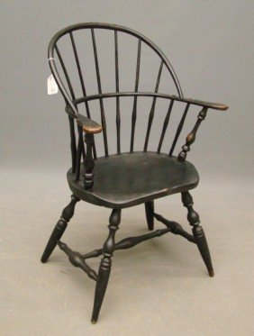 "Signed ""E. Tracy""  Windsor Chair"