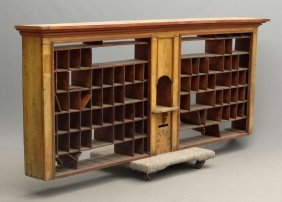 Large Post Office Cabinet