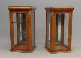 Pair Collectors Cabinets