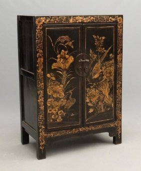 Asian Lacquered Cabinet