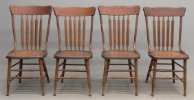 19th C. Oak Chairs