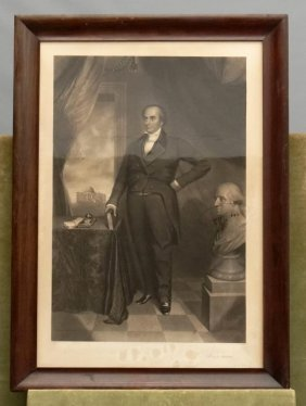 19th C. Engraving Of Daniel Webster