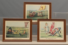 Vintage Currier And Ives Golf Prints