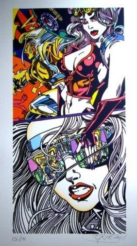 ERRO #6 Untitled, 2001 92 X 50 Cm Coloured Lithograp
