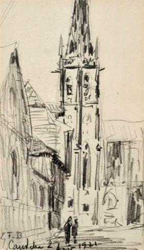 BOGGS Franck (1855-1926) Le Clocher De Concarneau