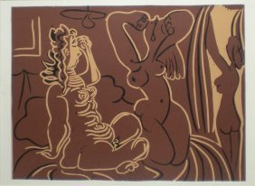 PICASSO Pablo Print In Linocut After The Original