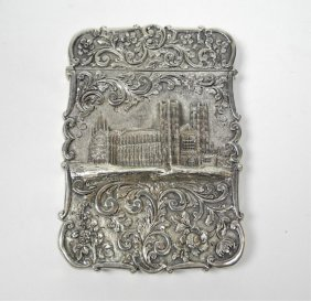 NATHANIEL MILLS SILVER CASTLE TOP CARD CASE