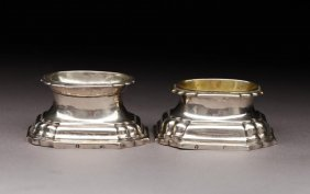 TWO GERMAN SILVER 18TH CENTURY TRENCHER SALTS