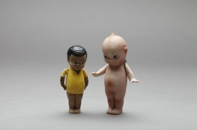 TWO RARE NIPPON BISQUE DOLLS