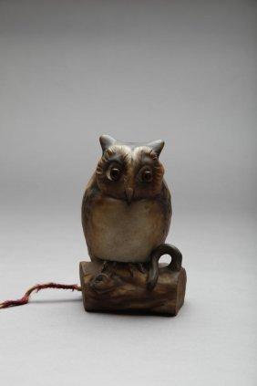 EARLY NORITAKE MOULDED OWL NIGHT LIGHT