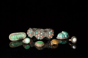 Lot Of Assorted Filigree And Enamel Jewellery