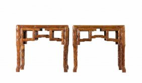 Pair Of Huanghuali Tables