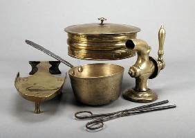 Four Items Of Domestic Brass Ware, 19th Century, C