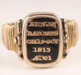 An Unusual Late George III Gold Mourning Ring, Cir