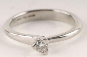 A Diamond Single Stone Platinum Ring, The Brillian