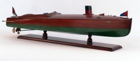 Varnished Speedboat Model.