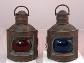 Copper Port And Starboard Lanterns.