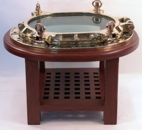 Brass Porthole Table.