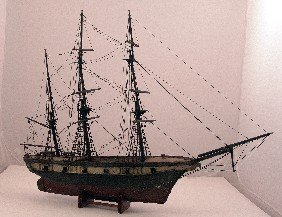 19th Century Model Of A Warship