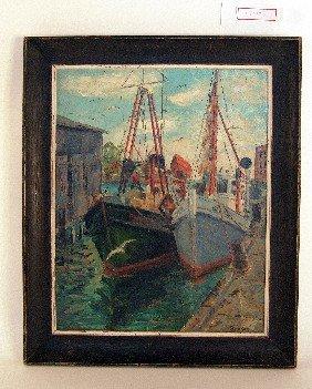 Oil Of Gloucester Harbor.