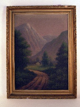 Mountainous Landscape Painting By T. Bailey