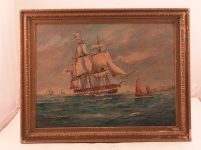 1931, Hardcastle Painting Of A Warship