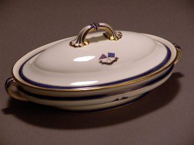 Mintons Flagship Corsair  Serving Bowl With Lid