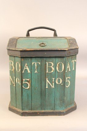 Early 20th Century Fisherman's Line Box