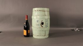Iron Bound Wood Keg From Whaler �Iona�.