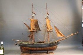 Large Antique Merchant Brig