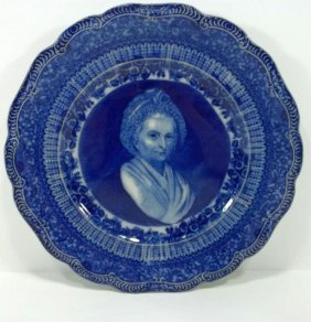 Flow Blue Staffordshire Plate