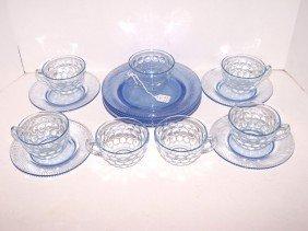 Lot Of Blue Depression Glass
