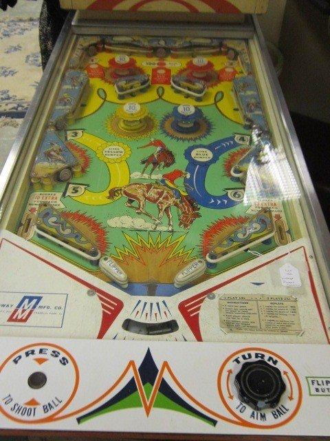 150 Vintage 1960 S Rodeo Pinball Machine Lot 150